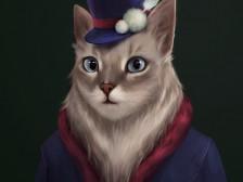 고양이 초상화 그려드립니다.