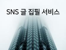 SNS 전문 홍보용 글 집필 서비스 제공해드립니다.