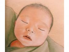 사랑스러운 아기의 모습을 그림에 담아드립니다.