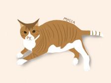 나만의 고양이 팝아트 일러스트 그림 그려드립니다.