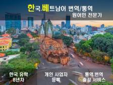 베트남어-한국어 최상의 품질로 번역해드립니다.