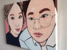 고퀄 수작업 팝아트 초상화 그려드립니다.