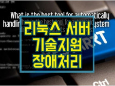 리눅스 서버 장애처리, 서버구축, 서버이전, 서버관리 원격 기술지원 해드립니다.