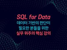 [입문/초급] SQL 실무에 필요한 내용만 핵심 강의해드립니다.