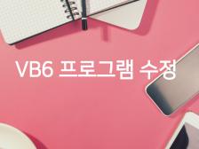 VB6으로 코딩된 각종 윈도우 응용프로그램 수정해드립니다.