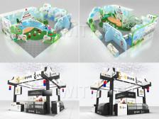 전시 부스디자인 & 인테리어  2D/3D 작업해드립니다.