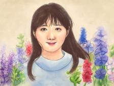 현직 동화작가의 동양화 캐리커쳐/인물화 그려드립니다.