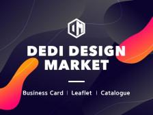양면 디자인명함, 회사명함, 리플릿, 카달로그 DEDI DESIGN에서 제작해드립니다.