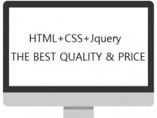 HTML+CSS+Jquery 최고의 가격과 품질을 보장해드립니다.