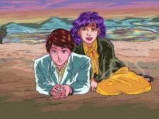 80년대 레트로 만화 느낌나는 캐리커처드립니다.