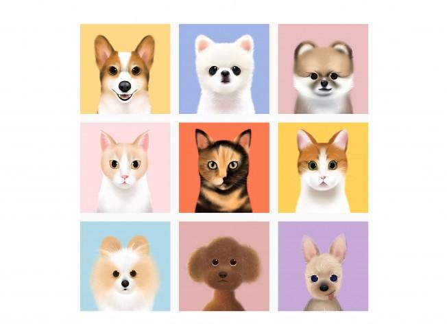 반려동물 캐릭터 초상화를 그려 드립니다.
