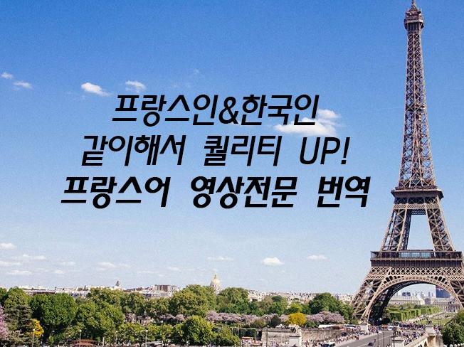 프랑스어 번역(영상 전문)-영화 전문 프랑스인/한국인이 해 드립니다
