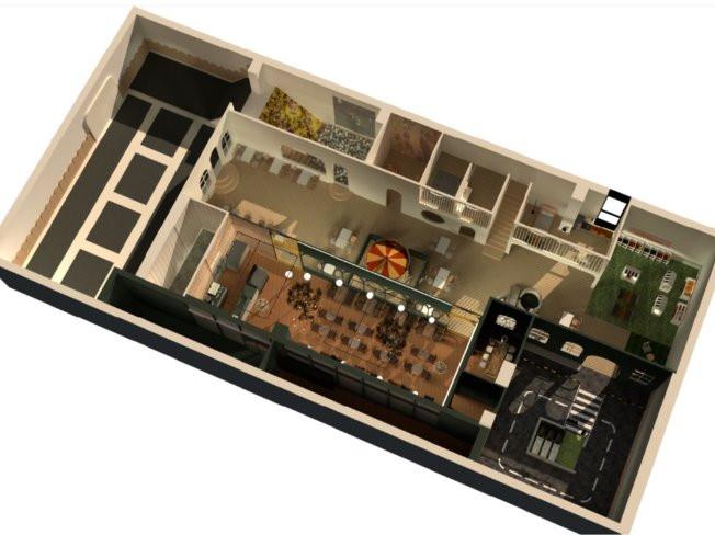 기획도면, 3D,플랜테리어 (외식업, 카페 및 키즈카페/ 주거공간)도와 드립니다