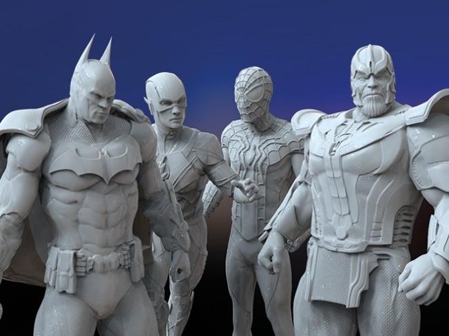 캐릭터 제작 2D 3D 모델링 드립니다.