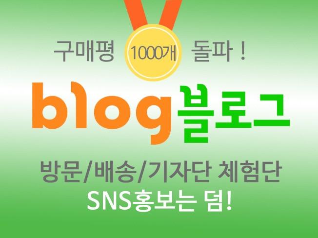구매평 1000개 돌파![전국가능]블로그 + SNS 드립니다