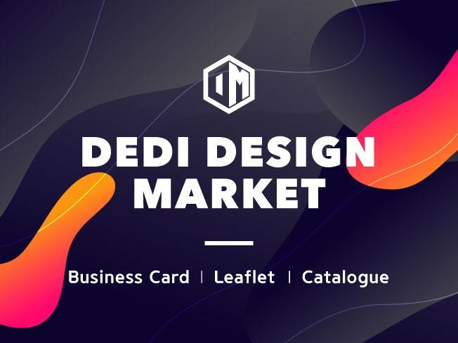 양면 디자인명함, 회사명함, 리플릿, 카달로그 DEDI DESIGN에서 제작해 드립니다