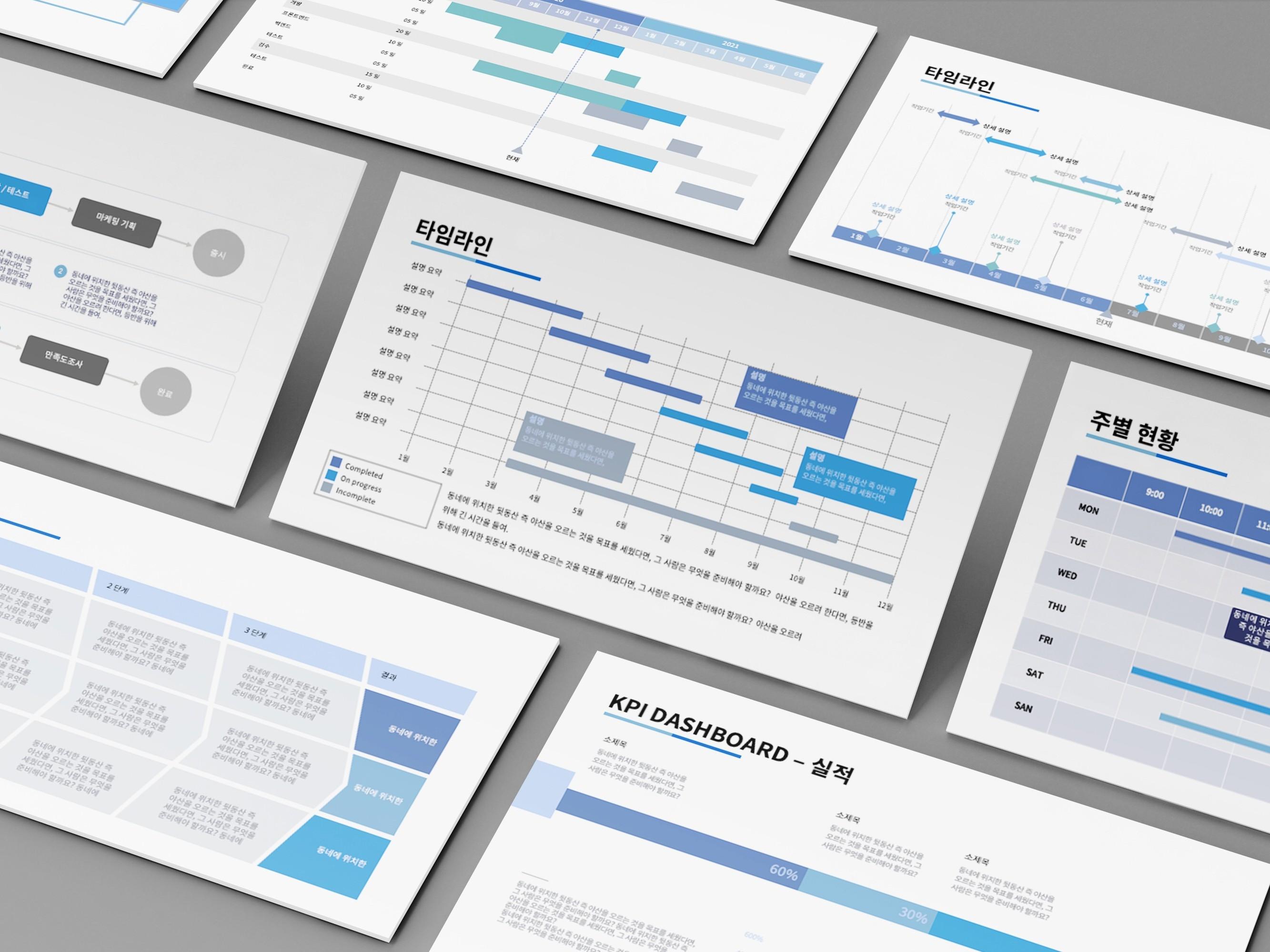 바로 활용하는 프로젝트, 사업 보고 KPI 대시보드를 드립니다.